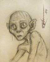 Gollum sketch by CaptBexx