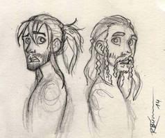 Kili and Fili sketch by CaptBexx