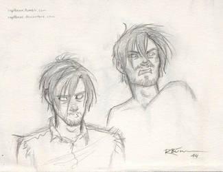 Daryl - expression sketches by CaptBexx