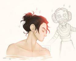 Kylo's hair by CaptBexx