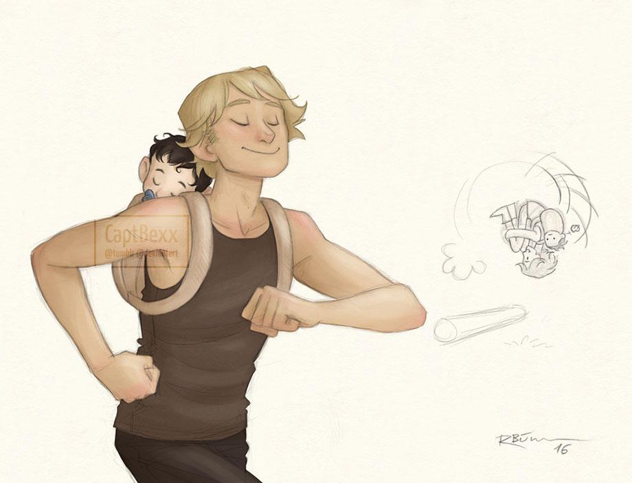 Luke and Baby Ben by CaptBexx