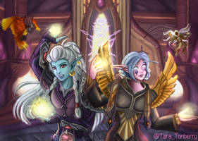 Commission | Dual Faction Character Portrait (WoW) by TaraOBerry