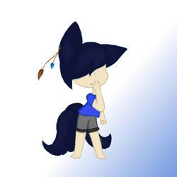 Chibi Tsuki (oc drawing) by LunarFang101