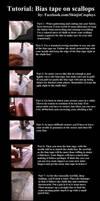 Tutorial: Bias tape on Scalloped edges! by xShinjix