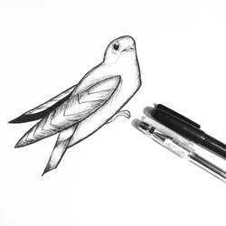Day 1 of Inktober ~ Swift by redramosreyes
