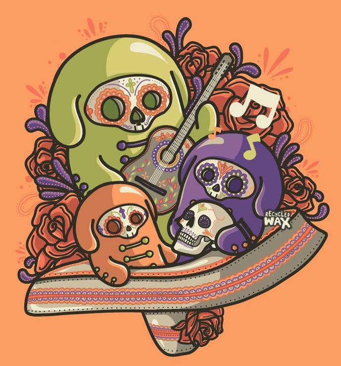 Dia de los Muertos by recycledwax