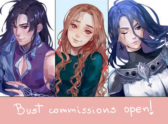 BUST COMMISSIONS OPEN!!! by Tpiola