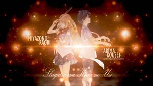 Miyazono Kaori and Arima Kousei Wallpaper by RichardKazuta