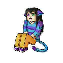 Minecraft Avatar - Katz Drawing by GoldSolace