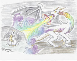 Brony D and D 5/9 -  Lightning Bliss Dragon by AnansiDragon