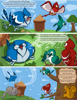 Billy the Bluejay by tippedchair