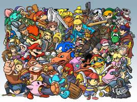 Super Smash Bros. Brawl by tippedchair