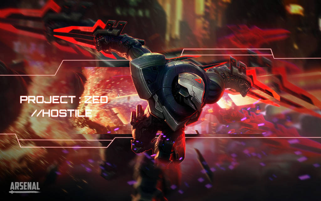League Of Legends Project Zed Wallpaper By Arsenalofcolours On