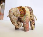 Batik Elephant Plush by MadeleiZoo