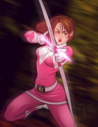 Go Go Pink Ranger by EderLunaC