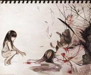 + A Fallen Angel + by akirakirai