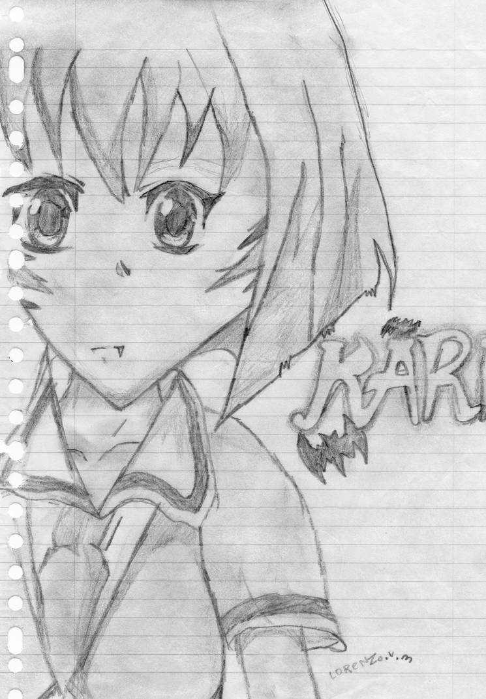 manga drawing : karin by orgxiiifreak