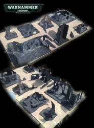 WH40K game board WIP :3 by orgxiiifreak