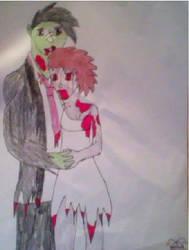 JCA Halloween contest - Zombie couple by Luna-Irie-Night