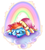 Sleepy fillies by RubyPM