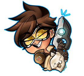 FA: Tracer Sticker by sariasong64