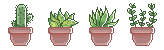 F2U Pixel plants by Alyssdream
