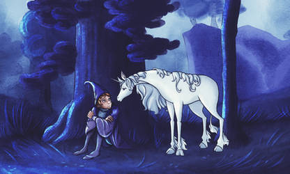The last Unicorn - Relaxing by TardisGhost