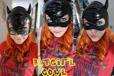 WIP Batgirl cowl and Makeup by SugarBunnyCosplay