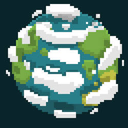 Pixel Art Earth by gpbrck