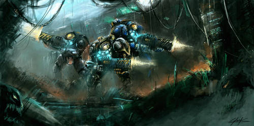 Starcraft 2 Heart of the Swarm platform by VitoSs