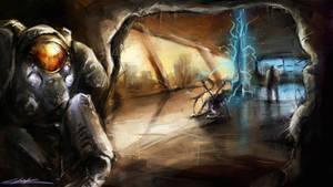starcraft 2 : heart of the swarm final scene by VitoSs