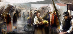 medieval market by VitoSs