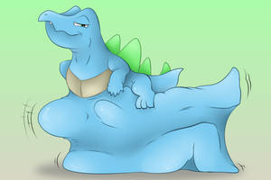 Never smile at a totodile by ZackTheRiolu