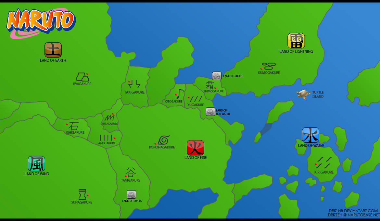 Naruto World Map by Driz NB on DeviantArt