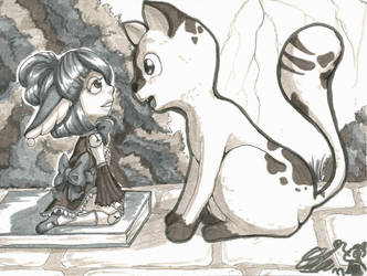 inktober 11 Chat by celunia
