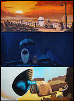 Wall-E And Eve by alekparkour