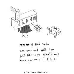 processed food haiku by inkblort