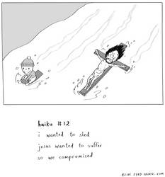 haiku 12 (jesus sled) by inkblort