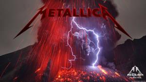 Metallica Ray Volcano Wallpaper by emfotografia