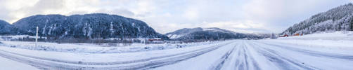 Snowy Road Panorama (360 degrees) by Weed-Lion