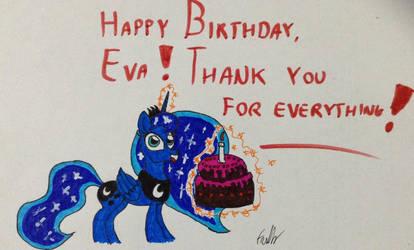 Happy Birthday, Eva! by Frollo7797