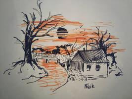 The dark sunset by Neik02