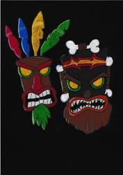 Crash Bandicoot- Aku and Uka :Rumble in the jungle by GoldenFalchion