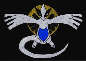 Pokemon # 249 - Luna argentea by GoldenFalchion