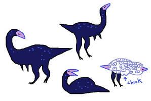 Blue Dinosaur by Mossworm