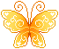 pixel gold butterfly by SuzukiMikan