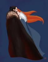 Jon and Sansa a la Mary Blair by Emmanation