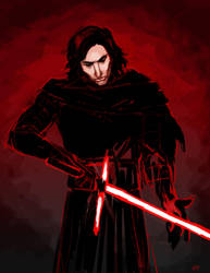 Kylo Ren in Red by Emmanation