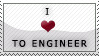 'i love to engineer' stamp by streamline69
