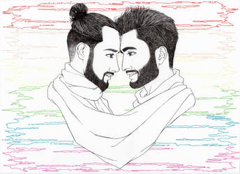 Love Is Love - disegno in esecuzione 3^ by LittleLiuk